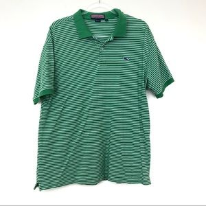 Vineyard Vines Green and White Polo Shirt Size XL